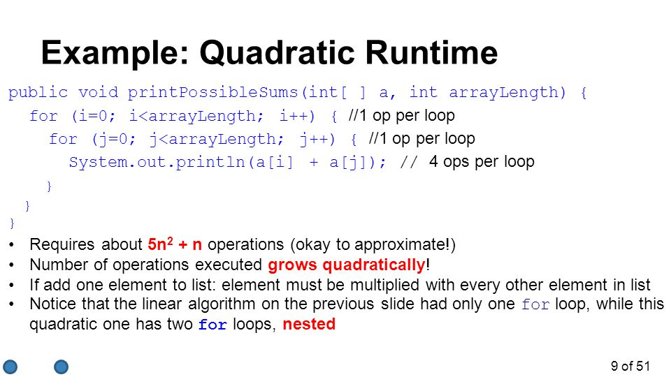Example: Quadratic Runtime