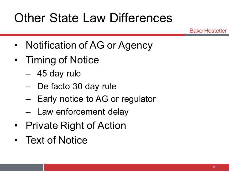 Other State Law Differences