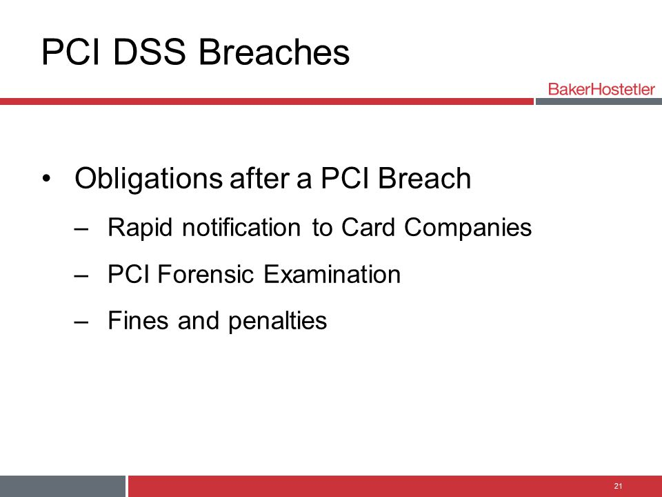 PCI DSS Breaches Obligations after a PCI Breach