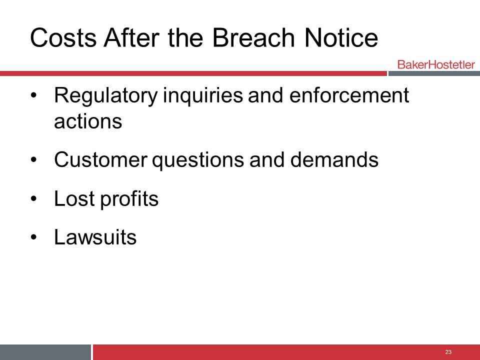 Costs After the Breach Notice