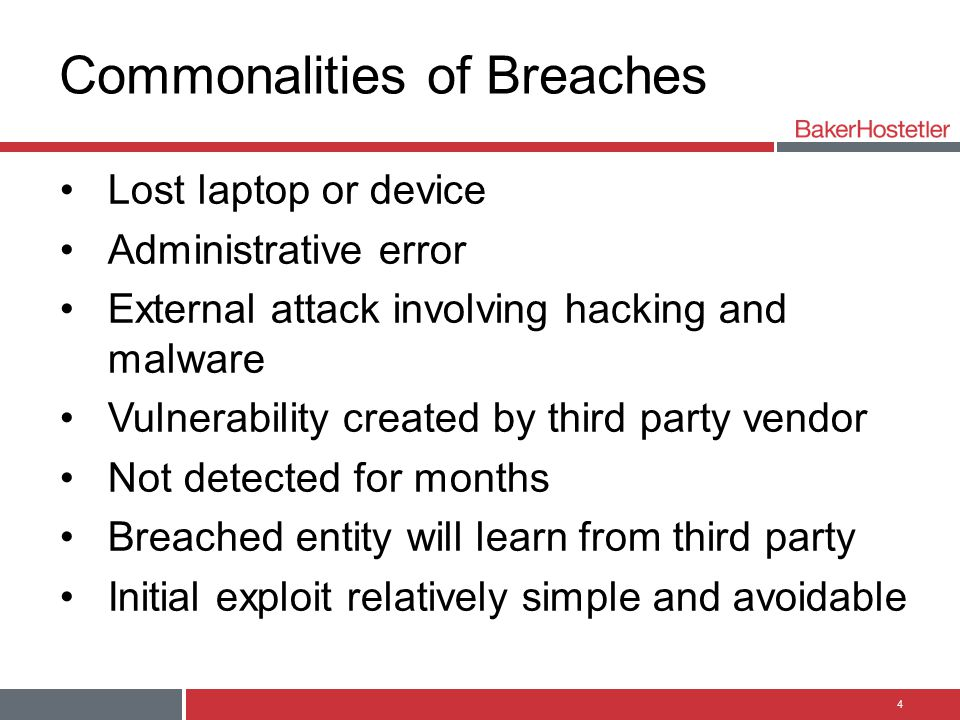 Commonalities of Breaches