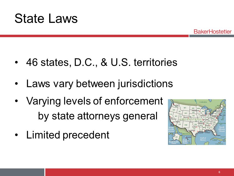 State Laws 46 states, D.C., & U.S. territories