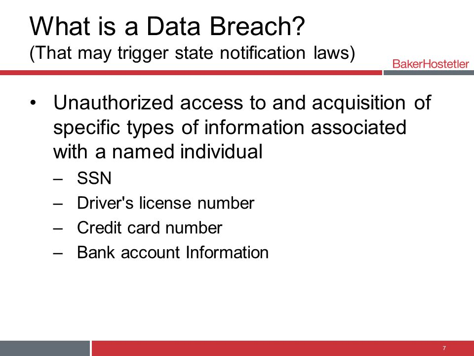 What is a Data Breach (That may trigger state notification laws)