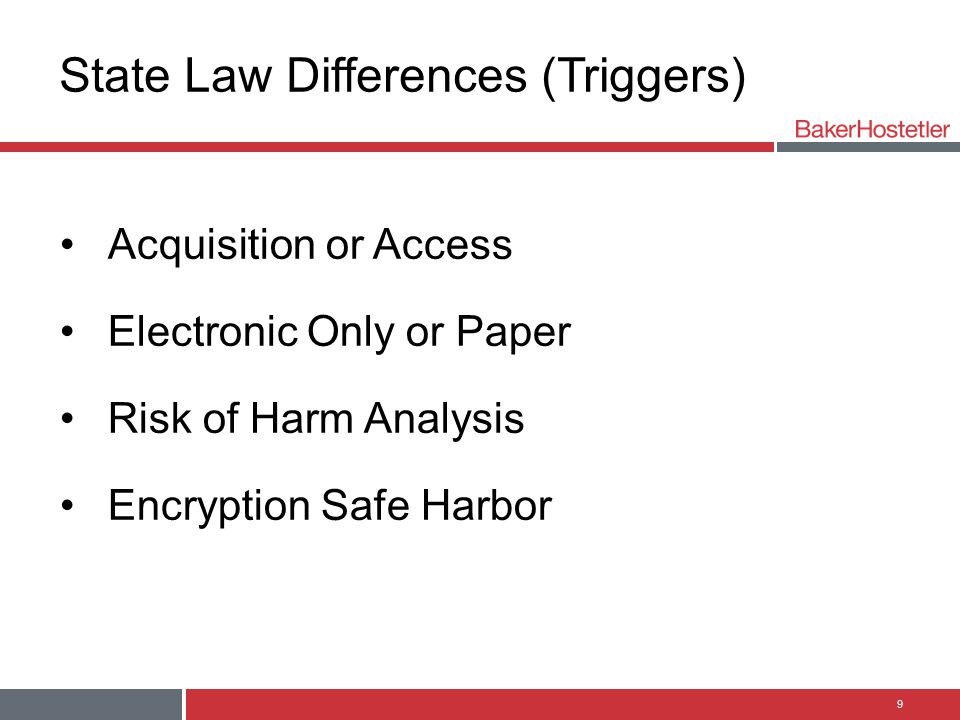 State Law Differences (Triggers)