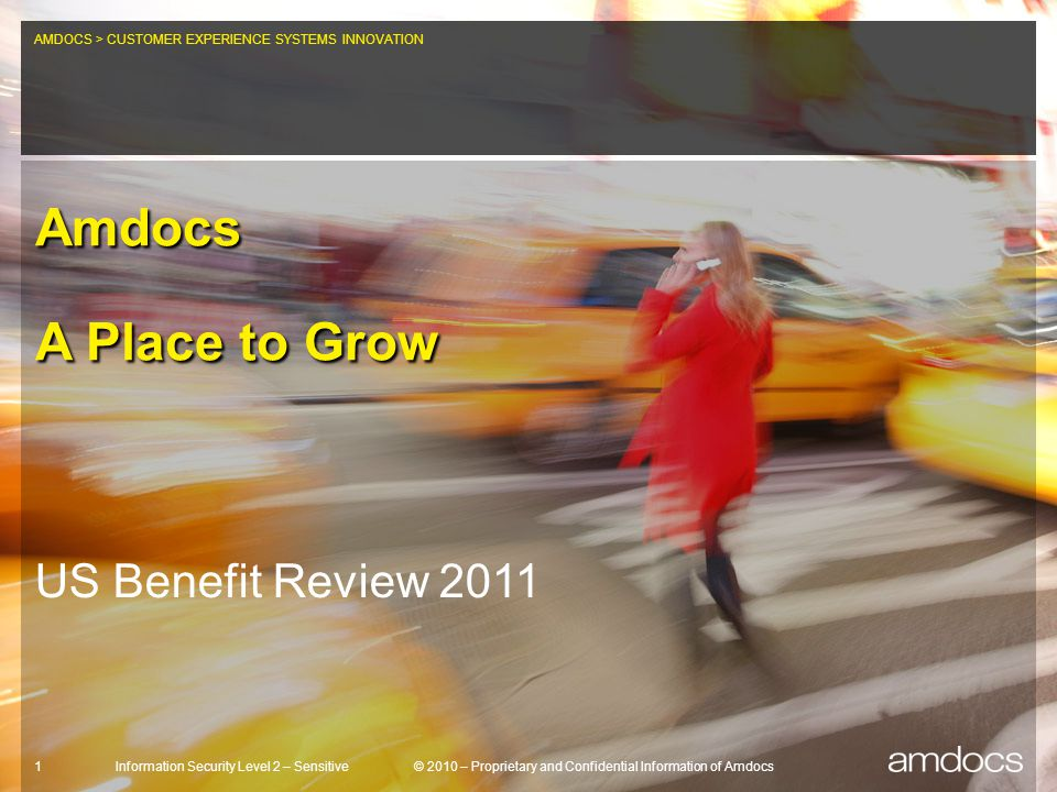 Amdocs A Place to Grow US Benefit Review 2011