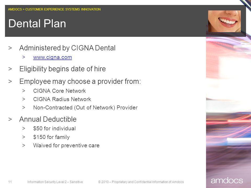 Dental Plan Administered by CIGNA Dental
