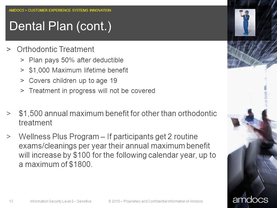 Dental Plan (cont.) Orthodontic Treatment