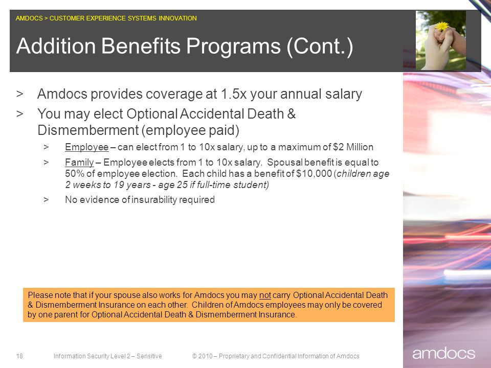 Addition Benefits Programs (Cont.)