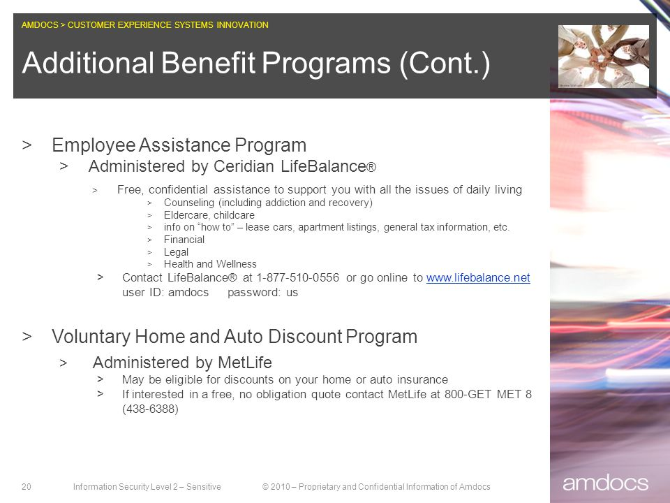 Additional Benefit Programs (Cont.)