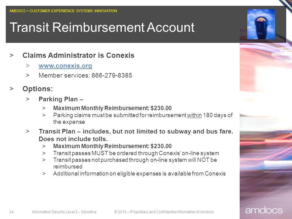 Transit Reimbursement Account