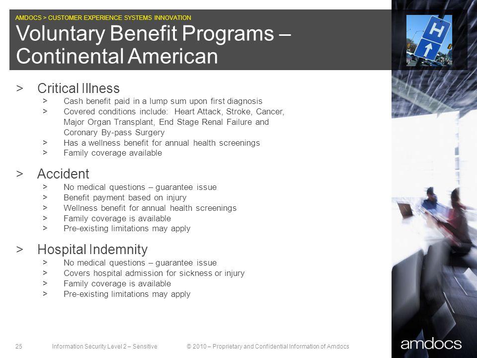 Voluntary Benefit Programs – Continental American