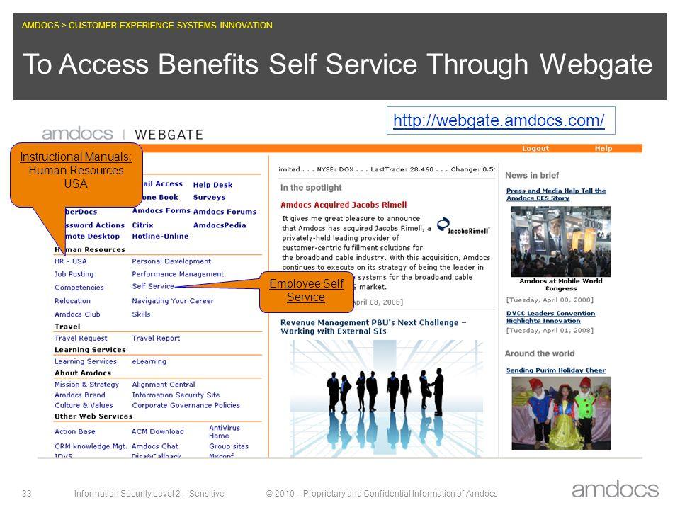 To Access Benefits Self Service Through Webgate
