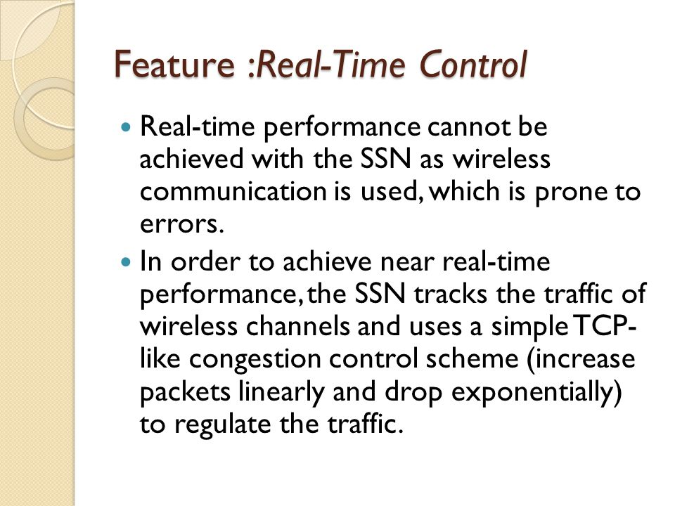 Feature :Real-Time Control