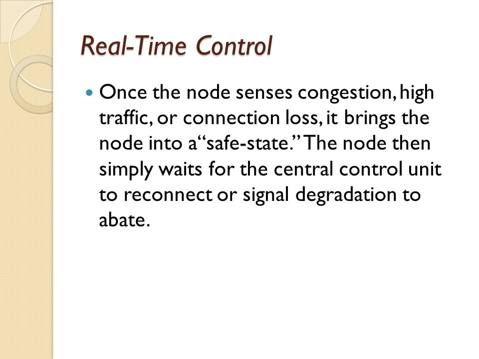 Real-Time Control