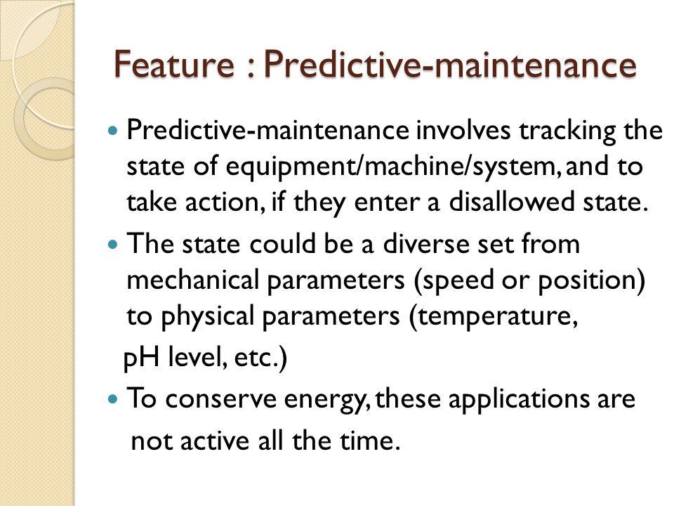 Feature : Predictive-maintenance