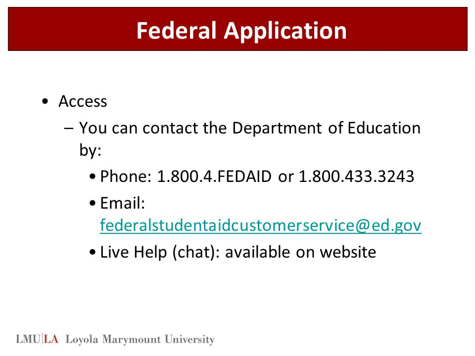 Federal Application Access