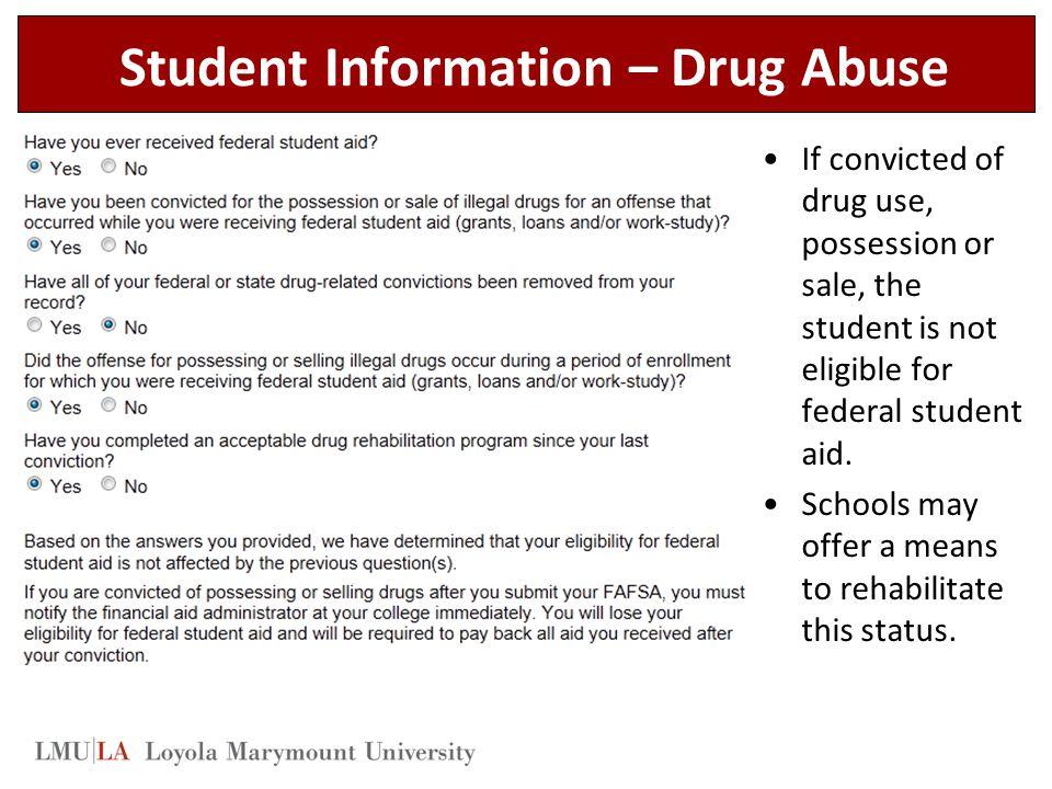 Student Information – Drug Abuse