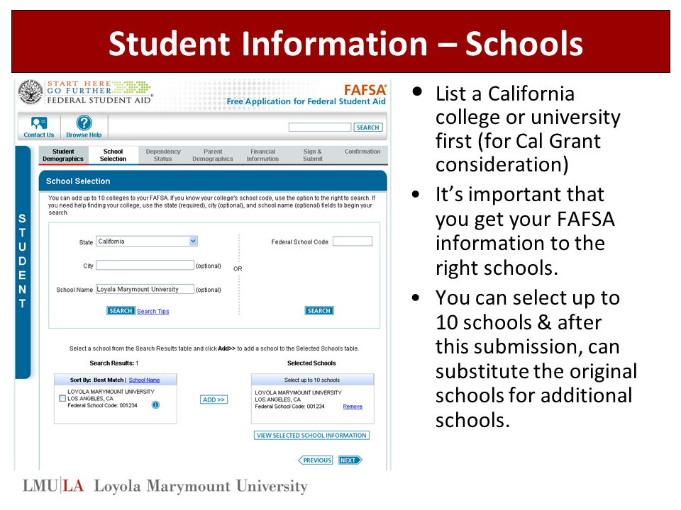 Student Information – Schools