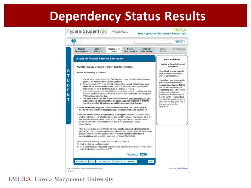 Dependency Status Results