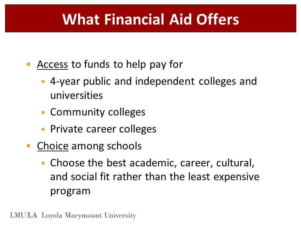 What Financial Aid Offers