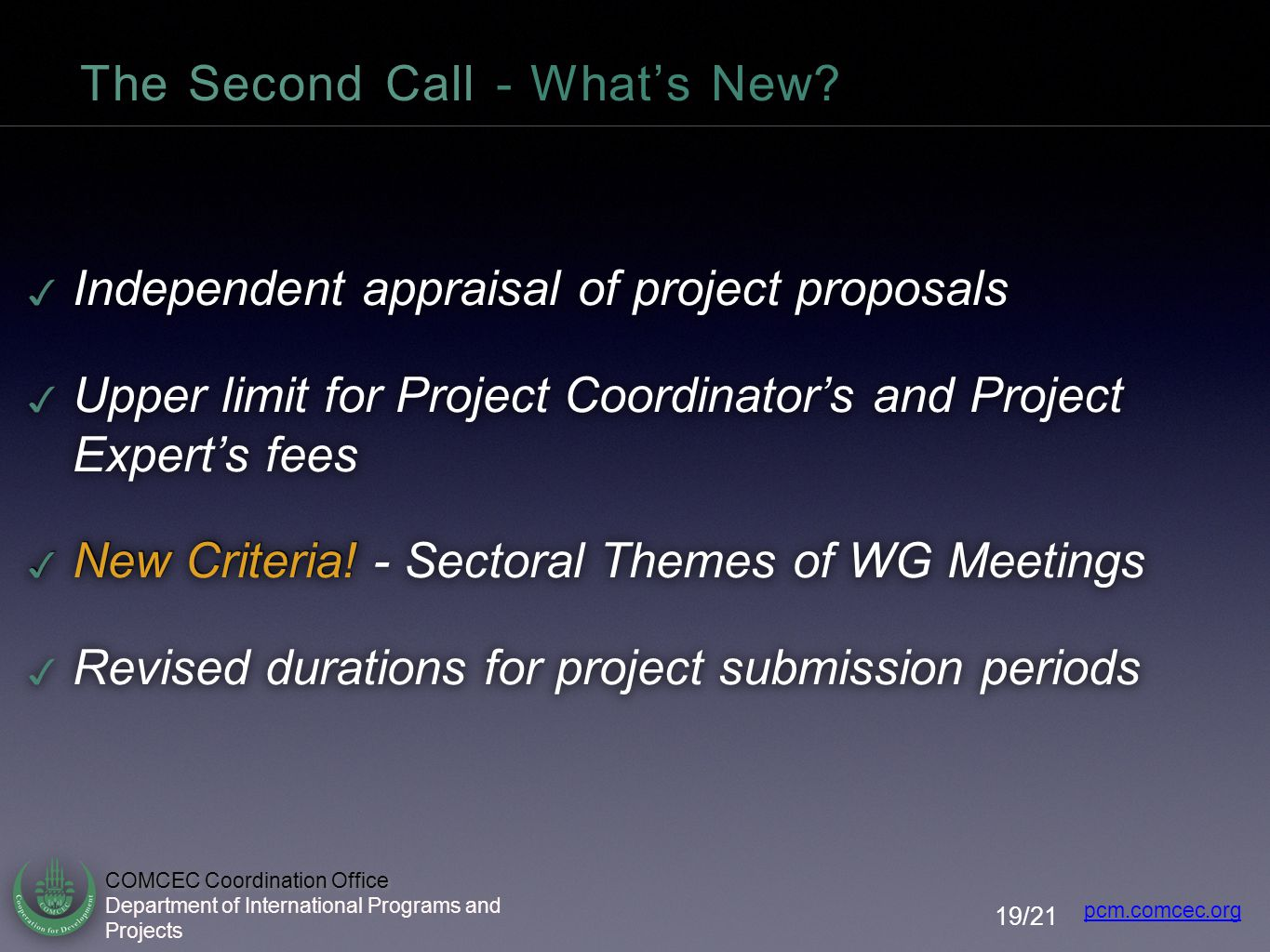 The Second Call - What's New