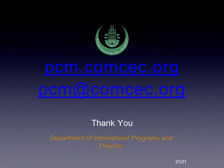 pcm.comcec.org pcm@comcec.org