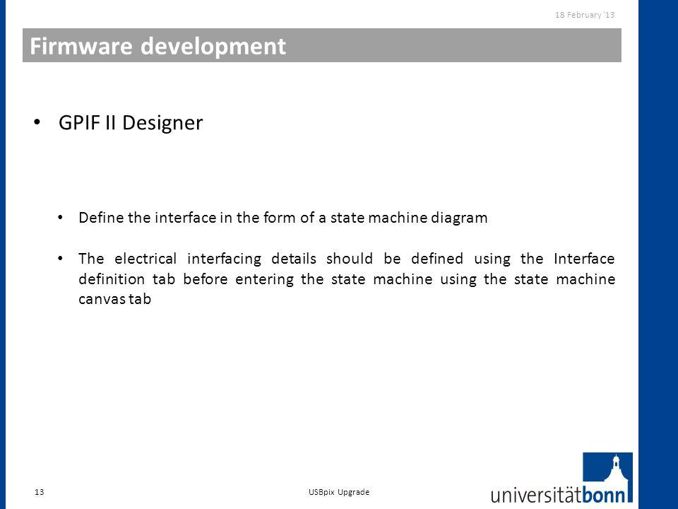 Firmware development GPIF II Designer