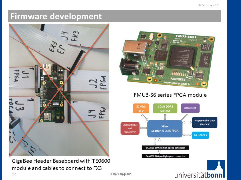 Firmware development GPIF II Designer FMU3-S6 series FPGA module