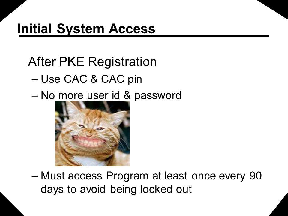 After PKE Registration