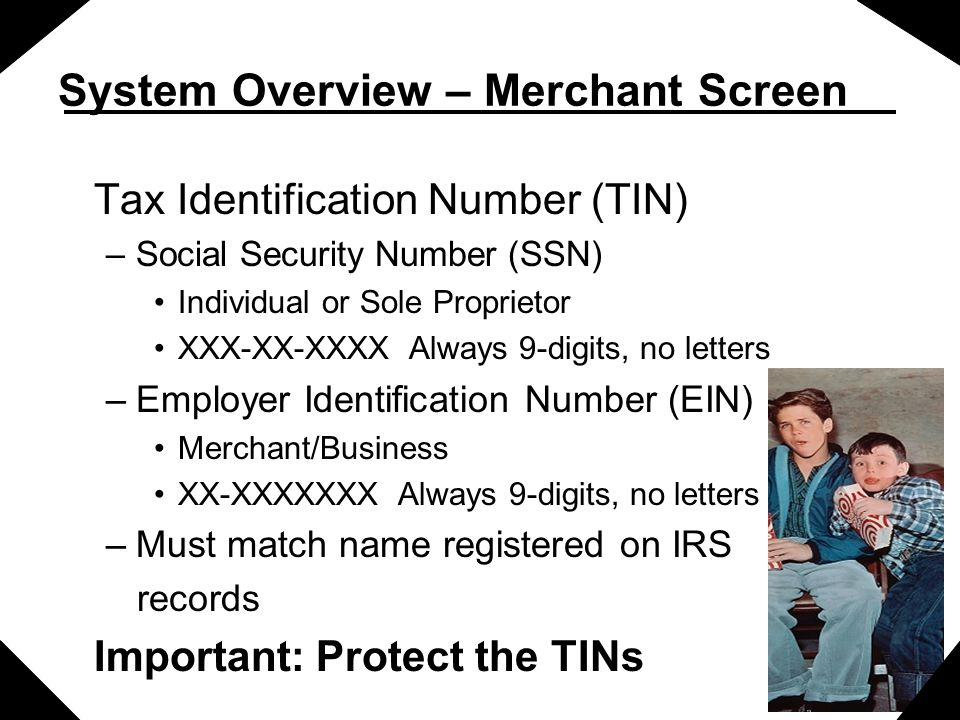 System Overview – Merchant Screen