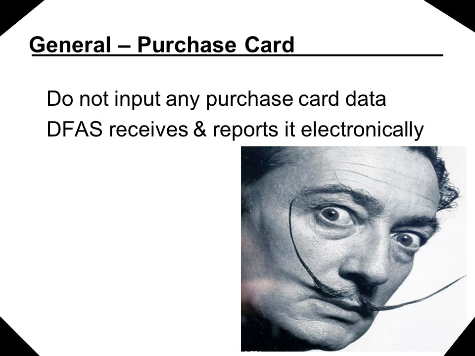 General – Purchase Card