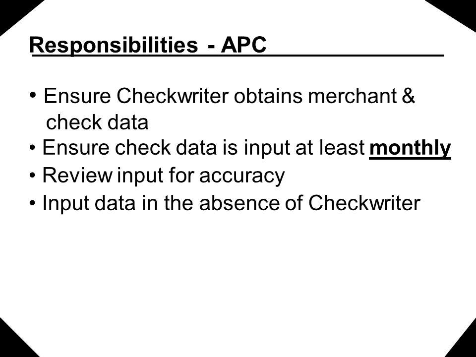 Responsibilities - APC