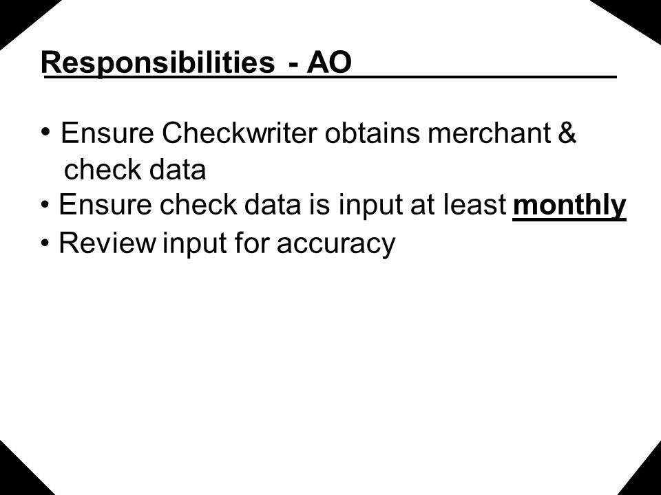 Ensure Checkwriter obtains merchant &