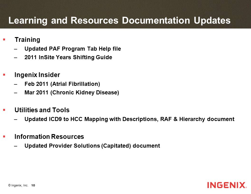 Learning and Resources Documentation Updates