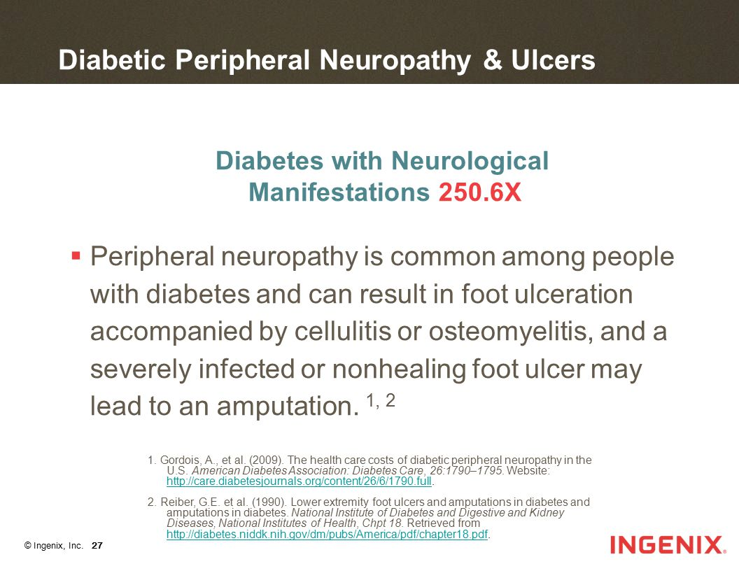 Diabetic Peripheral Neuropathy & Ulcers
