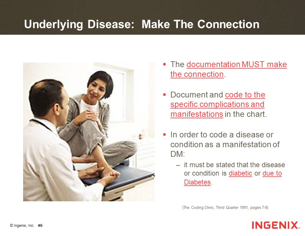 Underlying Disease: Make The Connection