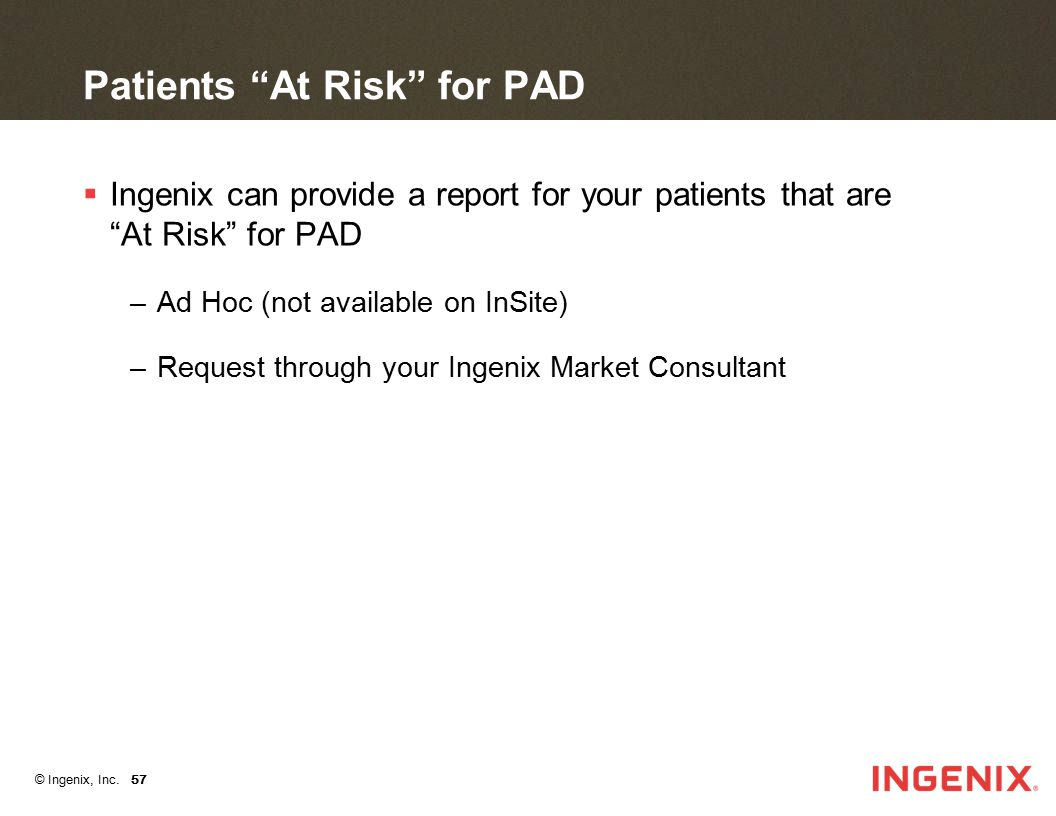 Patients At Risk for PAD