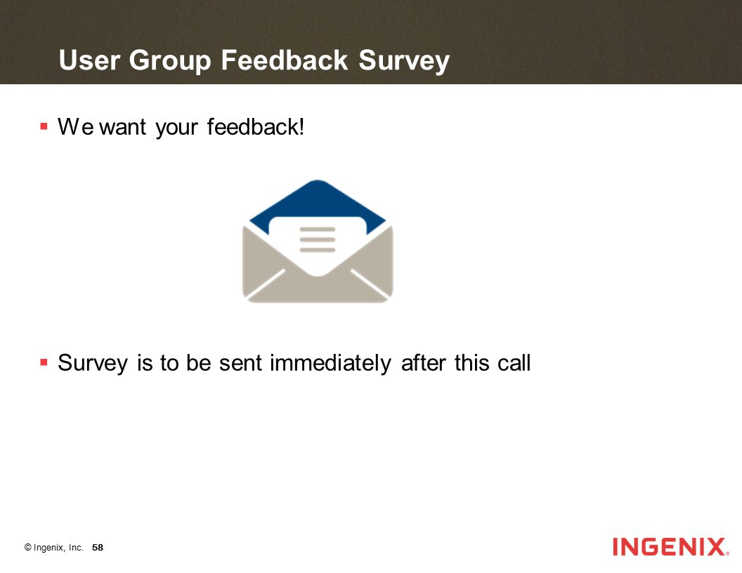 User Group Feedback Survey