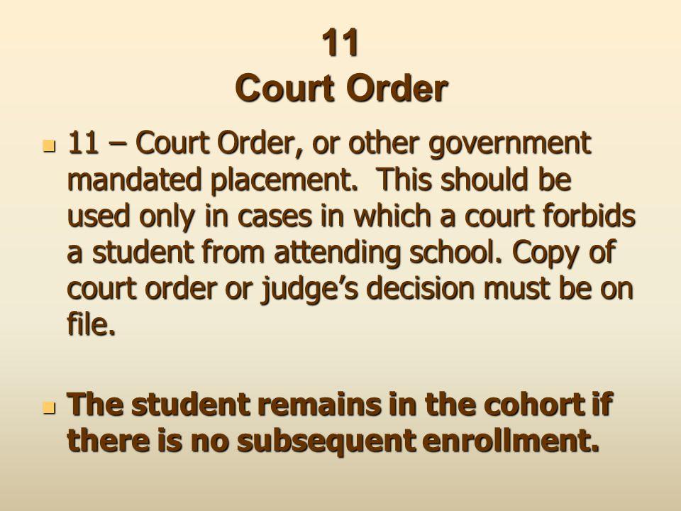 11 Court Order