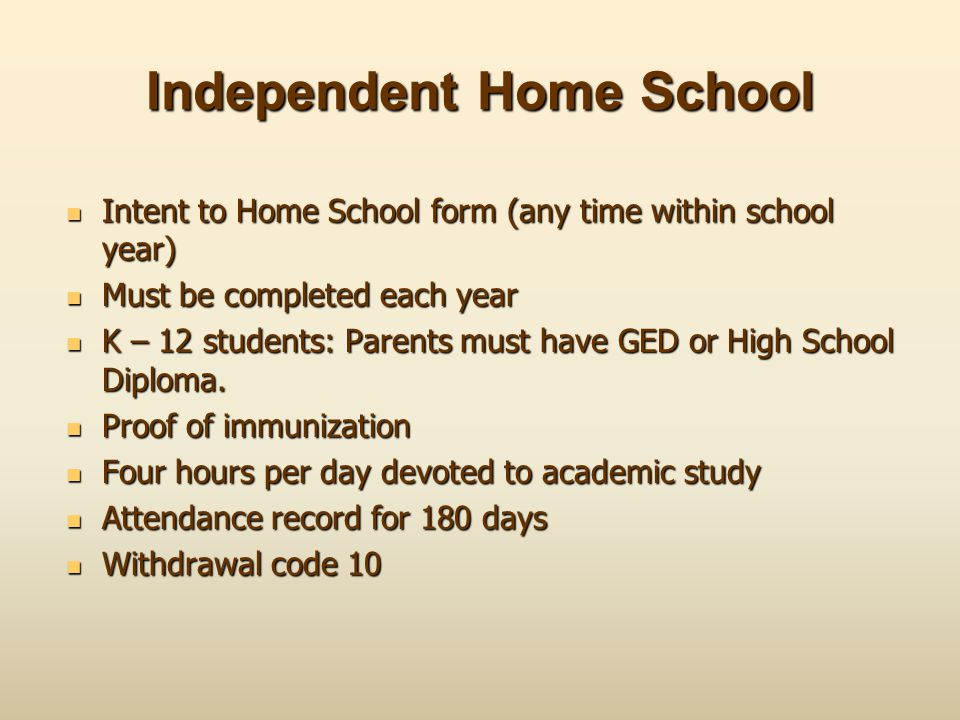 Independent Home School
