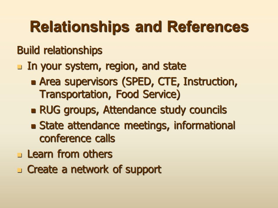 Relationships and References