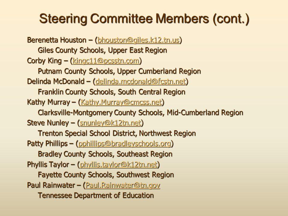 Steering Committee Members (cont.)