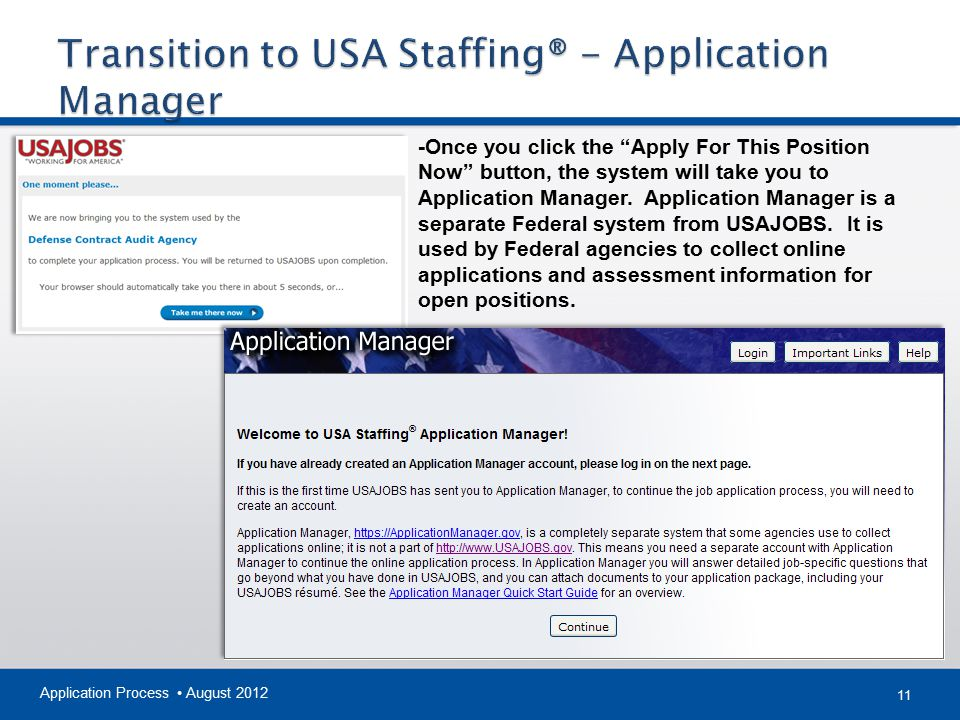 Transition to USA Staffing® - Application Manager