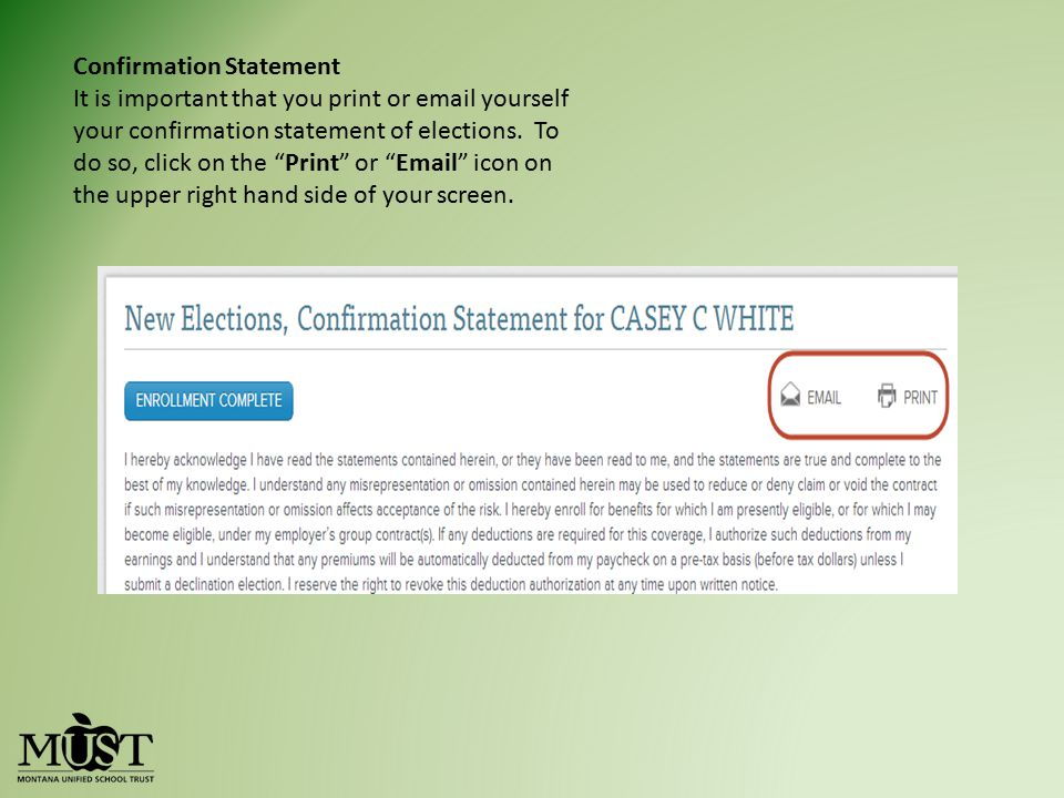 Confirmation Statement