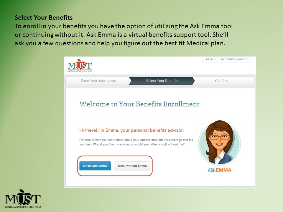 Select Your Benefits