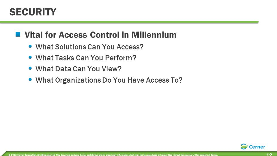 Positions Defined Role based access to Cerner Applications