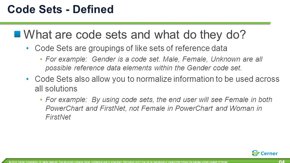 Two types of code sets Standard Solution-specific Code Sets