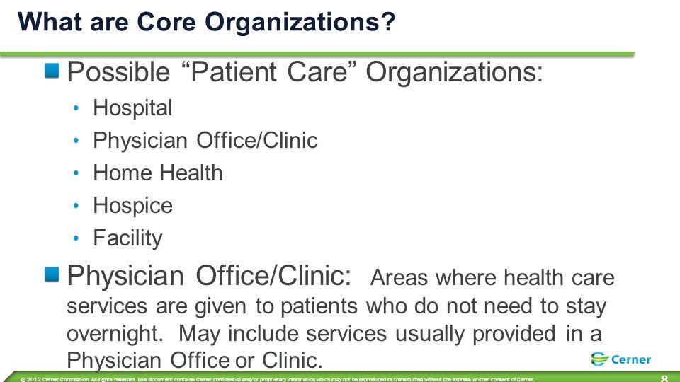 Core Organization Types