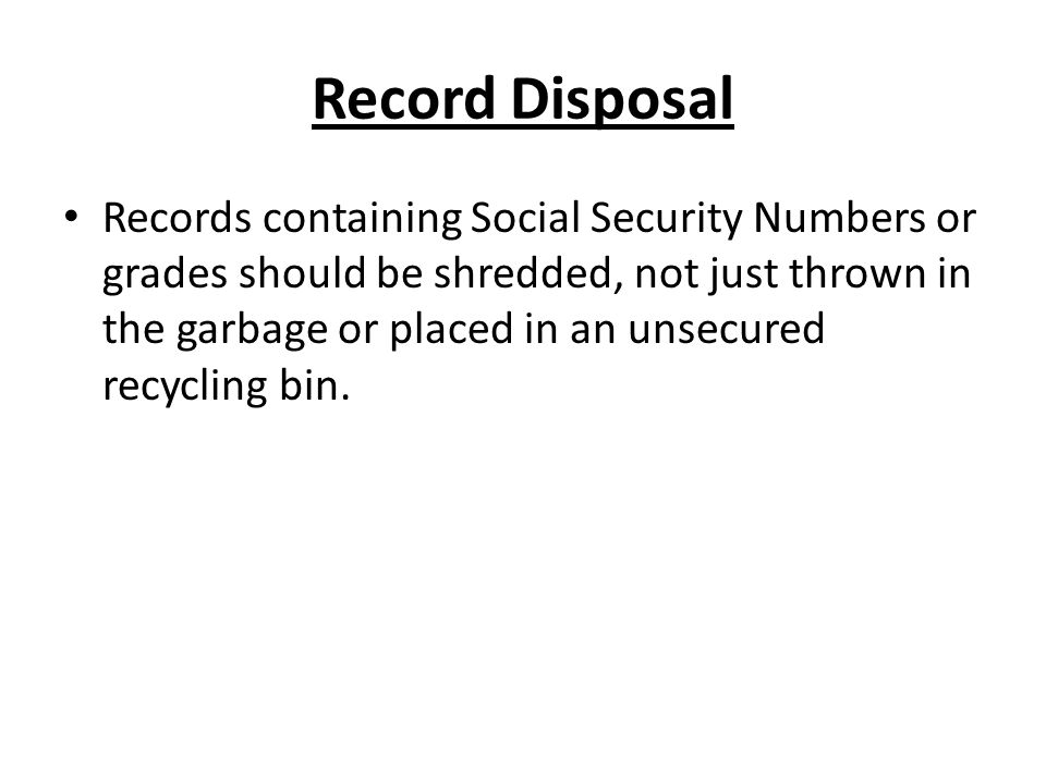 Record Disposal