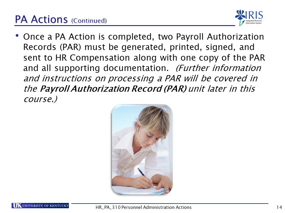 PA Actions (Continued)